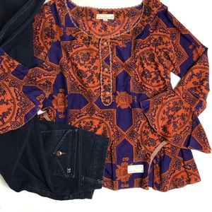 Odd Molly Boho Embroidered Silk Blend Blouse
